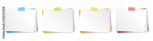 Mémo + adhésif (4 couleurs) Canvas Print