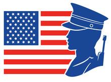 Silhouette Man Soldier America...