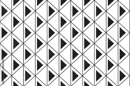 plakat Monochrome triangle mesh pattern