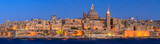 Valetta skyline at sunset