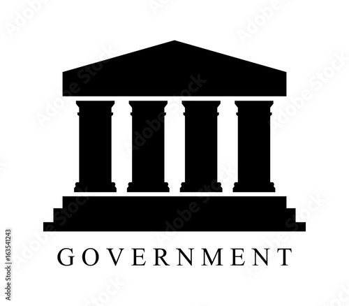 Government icon Canvas Print
