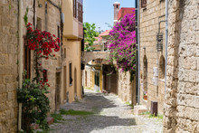 Street In The Old Town Of Rhod...