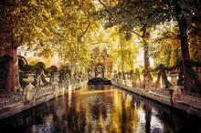 Medici Fountain In The Luxembo...