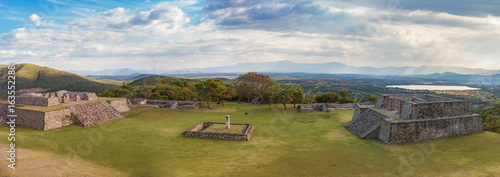 Pre-Columbian archaeological site of Xochicalco in Mexico Canvas Print