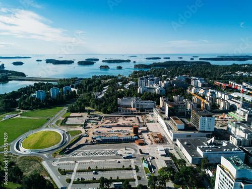 Zdjęcie XXL widok z lotu ptaka na miasto Espoo, Finlandia