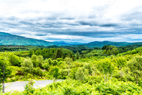 Tuinposter Lime groen Scottish landscape