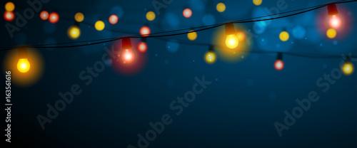 Obraz Guirlandes lumineuses vectorielles 2 - fototapety do salonu