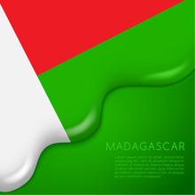National Flag On Creamy Liquid Dripping : Vector Illustration