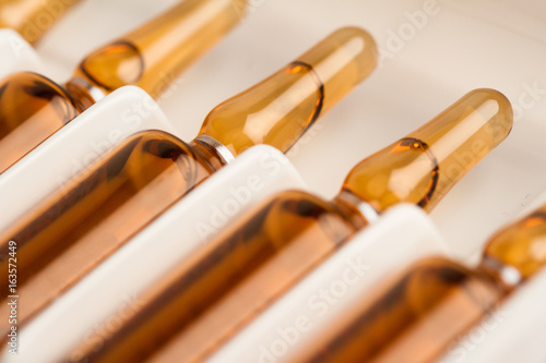 Photo medical ampoules packaging
