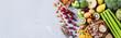 Leinwandbild Motiv Selection of healthy rich fiber sources vegan food for cooking