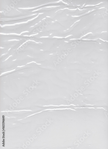 Pinturas sobre lienzo  Transparent crumpled plastic packing texture background