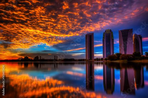 Obrazy na płótnie Canvas Sunrise and sunset view