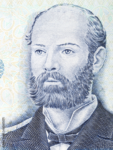 Arturo Prat Chacon portrait from Chilean money Wallpaper Mural