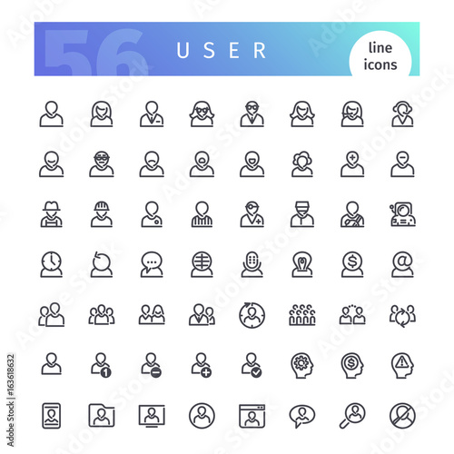 User Line Icons Set