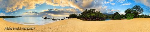 Fotografia  Beautiful 360 degree panorama at the beach of Masoala national park, Madagascar