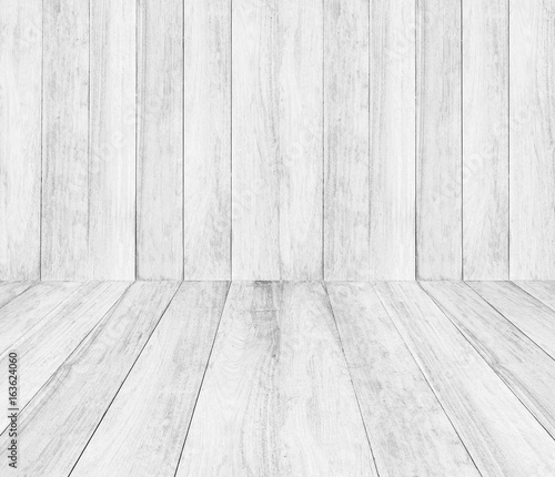 Vintage Surface White Wood Table And Rustic Grain Texture Background Close Up Of Dark Wall