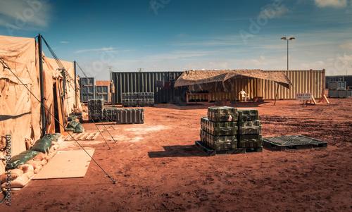 Photo  Marine military camp
