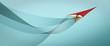 Leinwandbild Motiv Paper airplane
