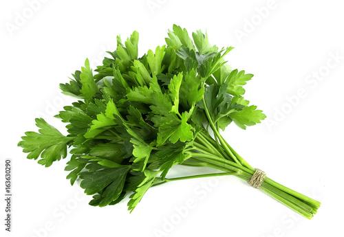 Fototapeta parsley bunch isolated on white background obraz