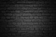 Old brick wall, black background texture
