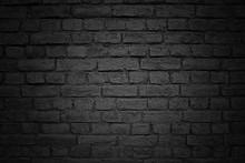 Old Brick Wall, Black Backgrou...