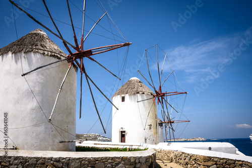 Mykonos Windmills Canvas