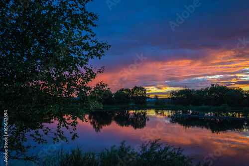 Foto op Aluminium Nachtblauw sunset