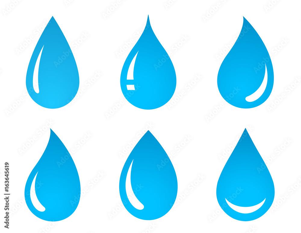 Fototapeta set of water drop icons