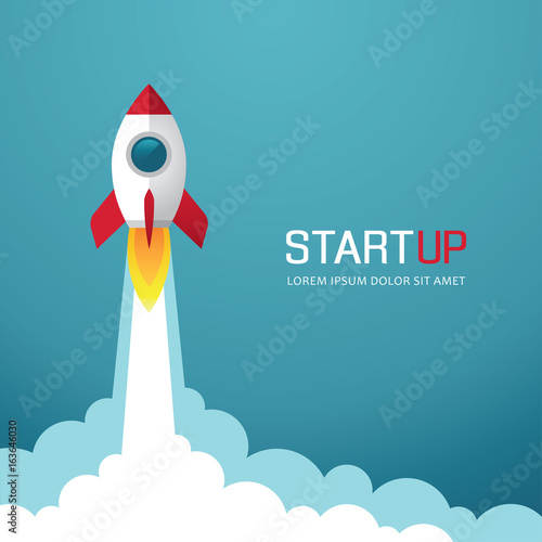 Photo  Rocket start up illustration