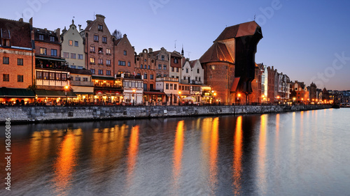 Printed kitchen splashbacks City on the water Old town of Gdansk