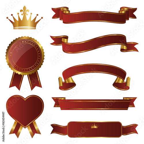 Fotografía  set of emblems