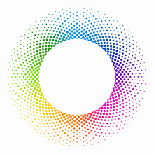 Colourful Halftone Ring #Vecto...