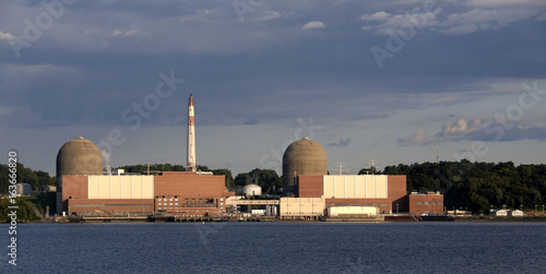 Fotografie, Tablou  Indian Point Energy Center--Nuclear Energy Power Plant on the Hudson River