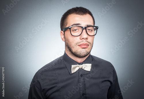 Fotografie, Obraz  Close-up man with eyeglasses