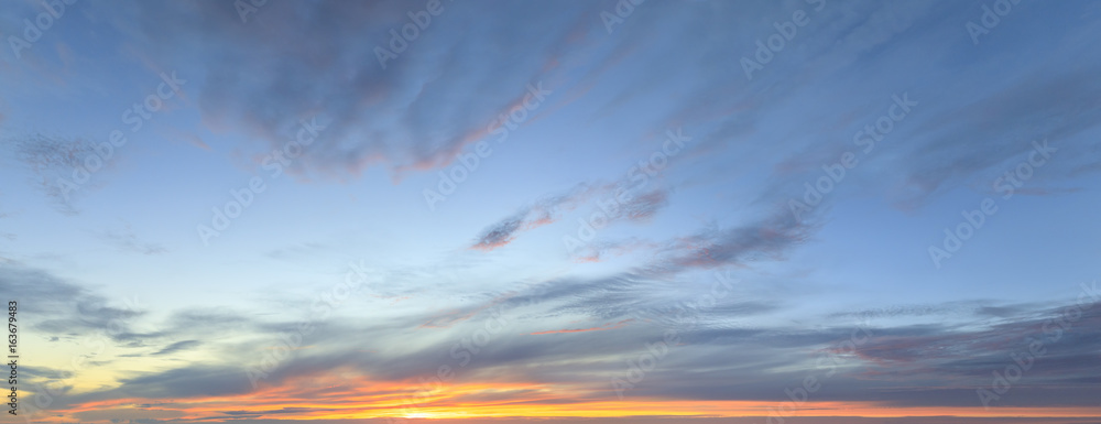 Fototapety, obrazy: Sky panorama at twilight time