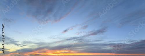 Fototapeta Sky panorama at twilight time obraz na płótnie