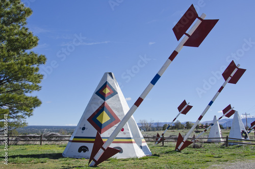Photo  Tee Pees and Giant Arrows