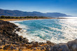 Beautiful greek seascape at sunny day, Malia, Crete
