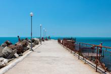 Coastal View Of Old Nessebar, Bulgaria. UNESCO World Heritage Site.