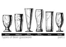 Illustration Of Beer Glassware