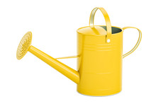 Yellow Watering Can, 3D Render...