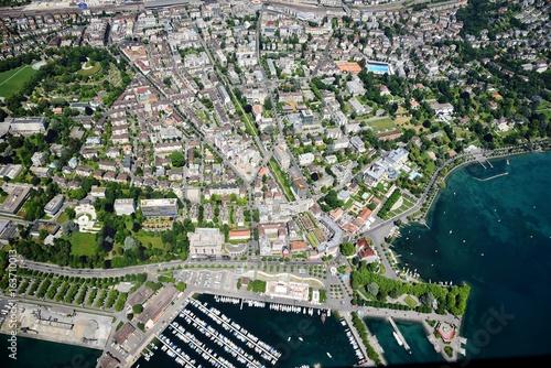 Lausanne, Ouchy, Lac léman, Suisse Canvas Print