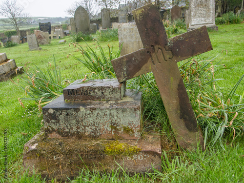 Photo Ancient grave in British churchyard