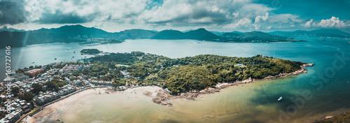 Fotografie, Obraz  Aerial view of Peng Chau Island, Hong Kong
