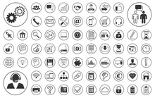 Business BIG Iconset - Weiß (...