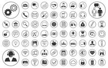 Business BIG Iconset - Weiß (Kreis)