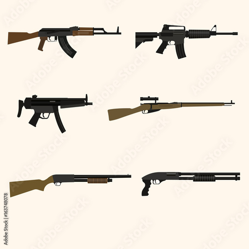 Fotografía  Firearm set