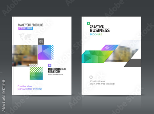 Abstract business Brochure design vector template in A4 size. Poster