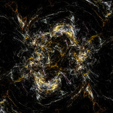 Abstract Golden Swirly Lines O...