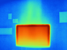 Thermal Image Of Flat Screen Television
